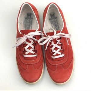 Mephisto Red Leather Runoff Air Jet System Size 10